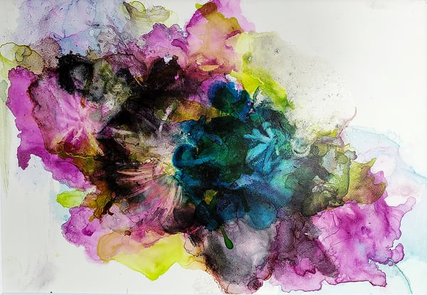 Corsage - An Ink Painting by Terry Rosiak