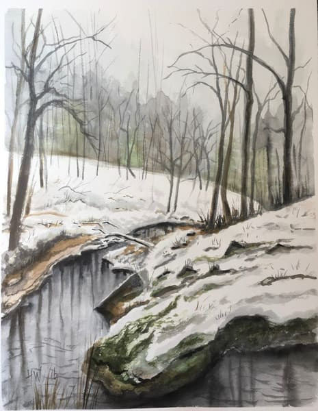 Snow In The Green Mountains Art | Holly Whiting Art