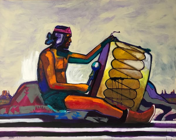 Hopi Drummer- Original Painting