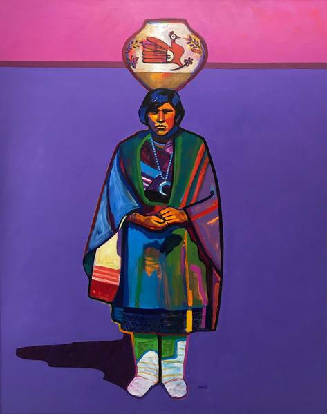 Pueblo Potter  Original Painting Art | Madaras Gallery