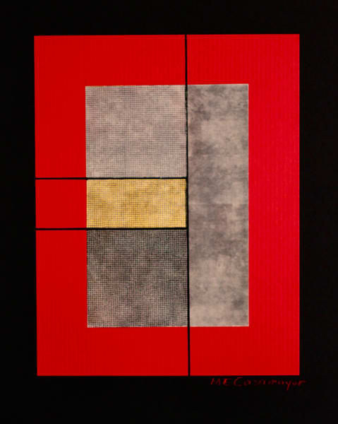 Composition In Red, Gray And Yellow Art | Casamayor Art