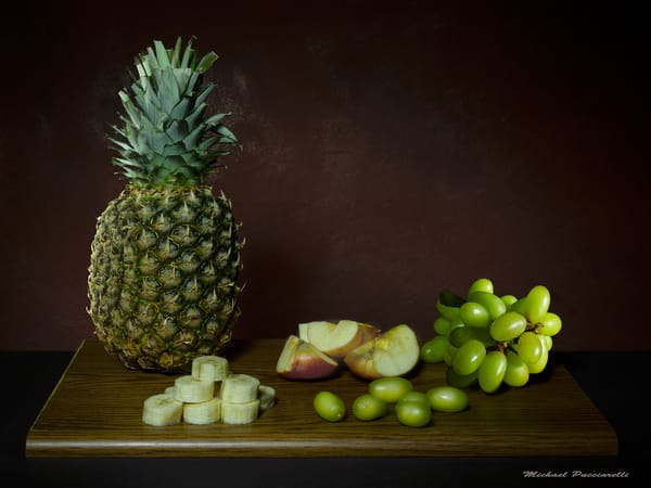 A Fine Art Photograph of Pineapples with Grapes by Michael Pucciarelli