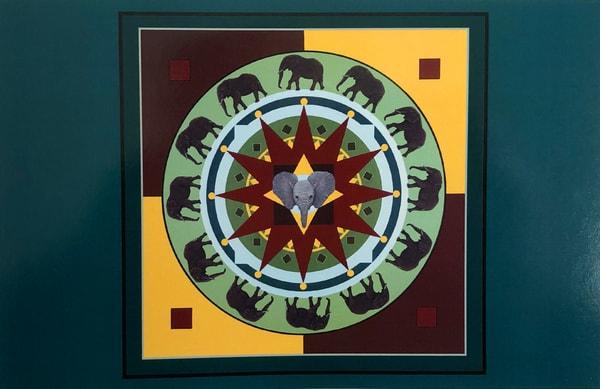 Trozzo elephant mandala card