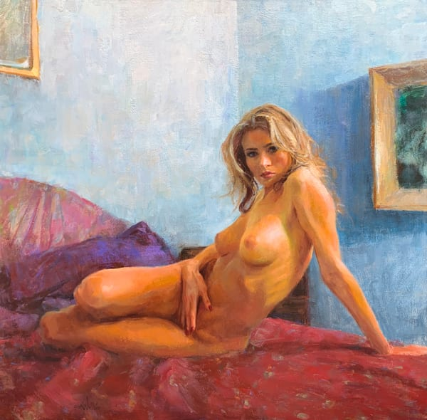 Nude on Red by Eric Wallis
