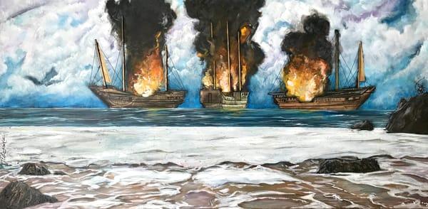 Burn The Ships Art   thomaselockhart