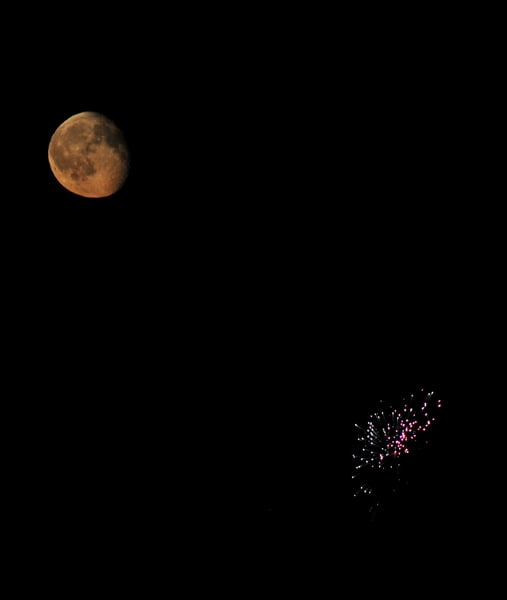 The Moon and The Fireworks