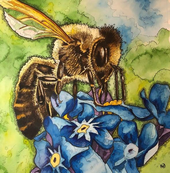 Honey Bee Art | Water+Ink Studios