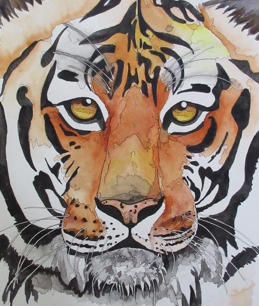 Face Of A Tiger 2 Art | Water+Ink Studios
