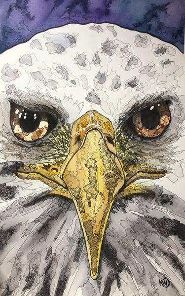 Eagle Eyes Art Print Art | Water+Ink Studios