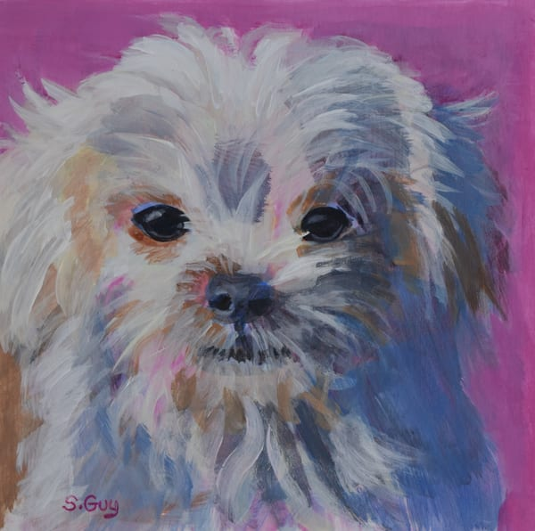 Pink Pup  Art | Sharon Guy