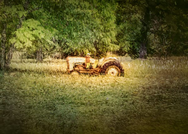 Antique Tractor At Sunset   Digitally Painted Photograph Photography Art | Grace Fine Art Photography by Beth Sheridan