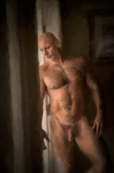 Brian X In The Light, men of a certain age, Ben Fink art prints, photo