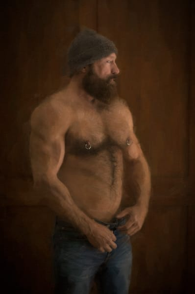 The Undressing Of Cal, men of a certain age, Ben Fink art prints, photo