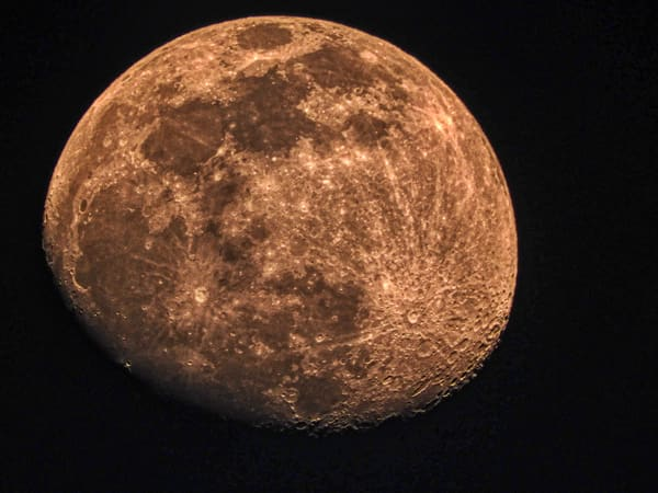 Waxing Gibbous Moon - 4 April 2020 by Keith R Wahl, Made From RI Gallery