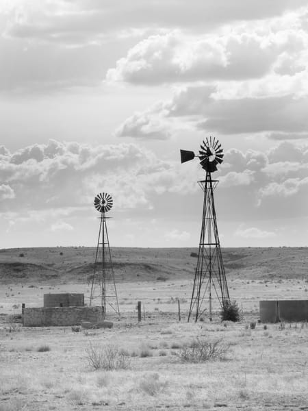 Two Windmills On The Prairie Photography Art | Galeria Mañana