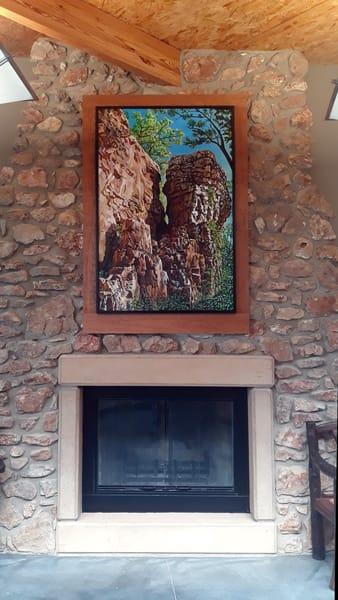 Shoal, Creek, Nature, painting