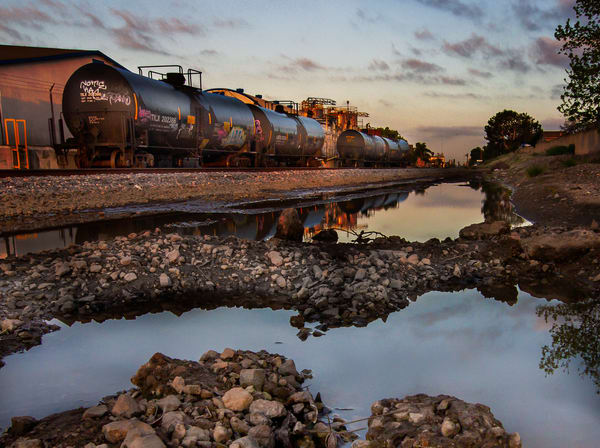 Tank Cars In After A Morning Rain Photography Art | Dan Katz, Inc.
