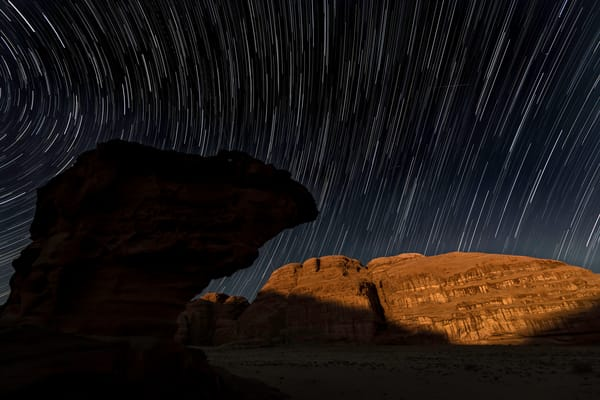 camel head star trail