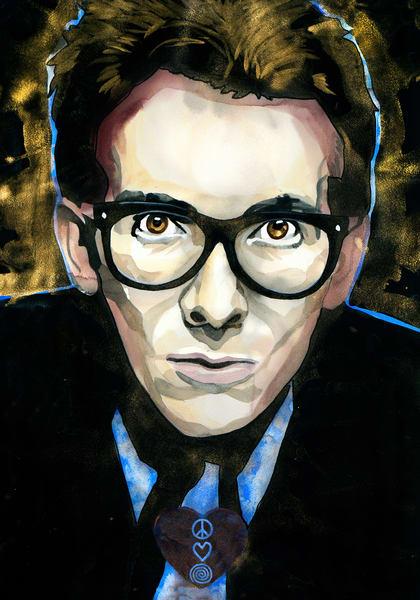 Elvis Costello Art   William K. Stidham - heART Art