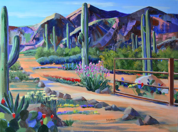 Fence at the Ranch by Diana Madaras