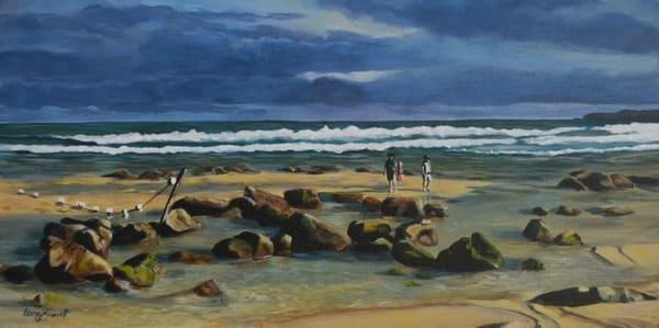 Bar Beach - Stormy Sky