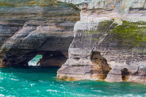Sandstone Cliffs Pictured Rocks Lake Superior Photography Art | Lake LIfe Images