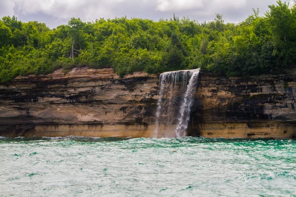 Spray Falls Pictured Rocks Lake Superior Photography Art | Lake LIfe Images