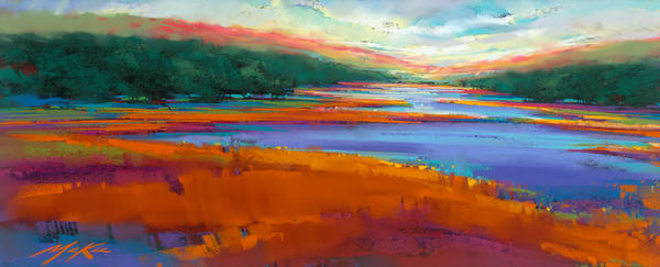 Highland Blue  Art | Michael Mckee Gallery Inc.