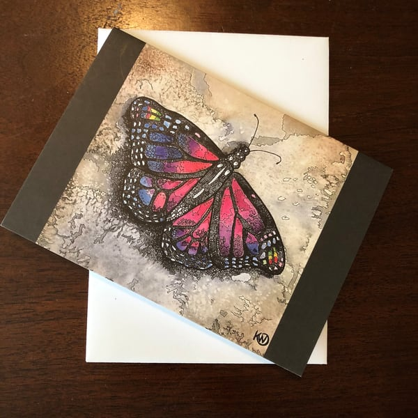 Amethyst Butterfly Greeting Card  | Water+Ink Studios