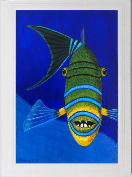 Trozzo-Queen Triggerfish Card