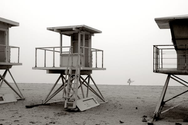 Vintage Lifeguard Stands & Surfer Photography Art | Shaun McGrath Photography