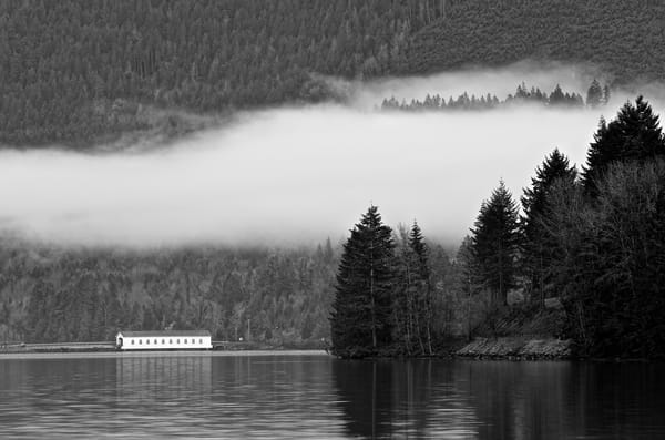 Dexter Lake With Low Clouds Photography Art | Shaun McGrath Photography