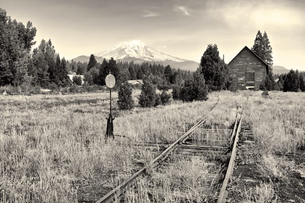Mt Shasta From Mc Cloud Rr Tracks California Photography Art | Shaun McGrath Photography