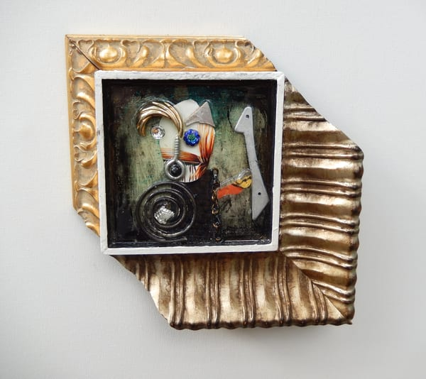 Found Object Portrait by Rick Wedel
