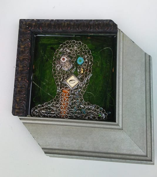 Found Object Portrait by Rick Wedel - Link
