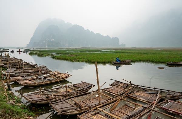 Rowboats Of Vietnam Photography Art | Kit Noble Photography