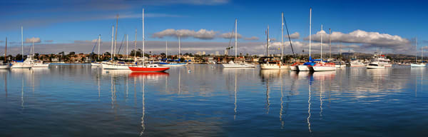 Balboa Island Panorama With Boats Art | Shaun McGrath Photography