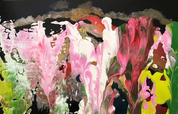 Night Flowers Art | Maciek Peter Kozlowski Art