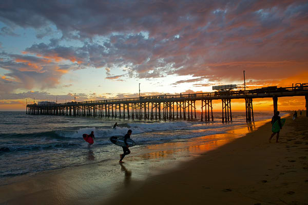 Balboa Pier Skimboarders Art | Shaun McGrath Photography