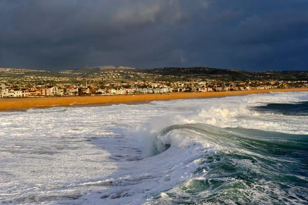 big waves in newport beach