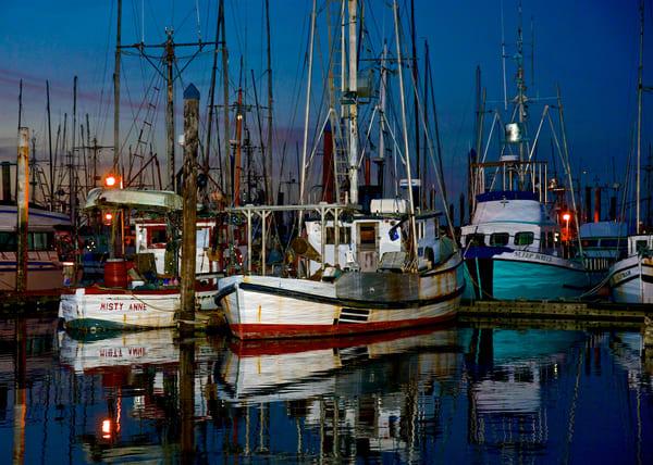 Fishing Boats At Dusk Charleston Oregon Art   Shaun McGrath Photography