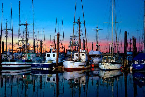 Charleston Fishing Boats At Dusk Art   Shaun McGrath Photography