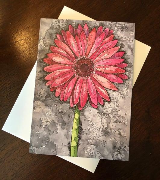 Pink Gerber Card | Water+Ink Studios