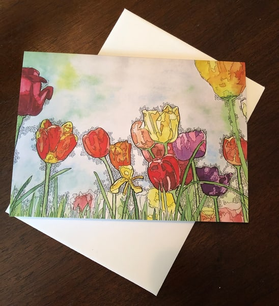 Tulips Card | Water+Ink Studios