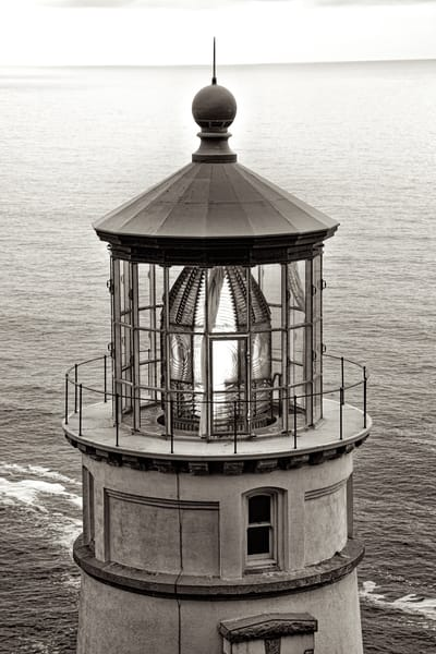 Heceta Head Lighthouse In B&W Art   Shaun McGrath Photography