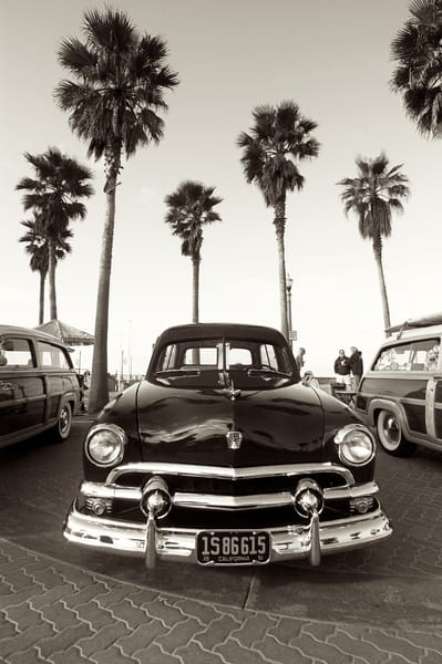 Vintage Ford And Palm Trees Art | Shaun McGrath Photography