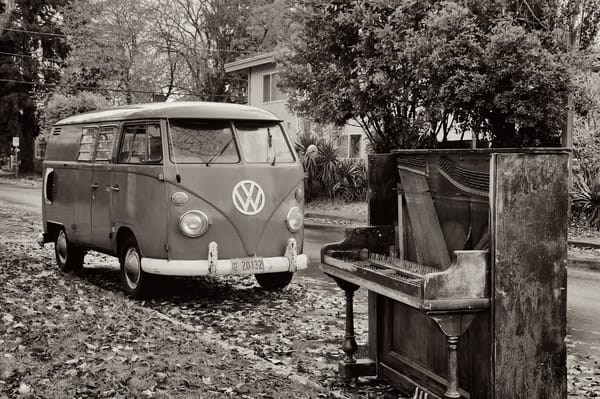 Classic Vw Bus And Piano Art | Shaun McGrath Photography