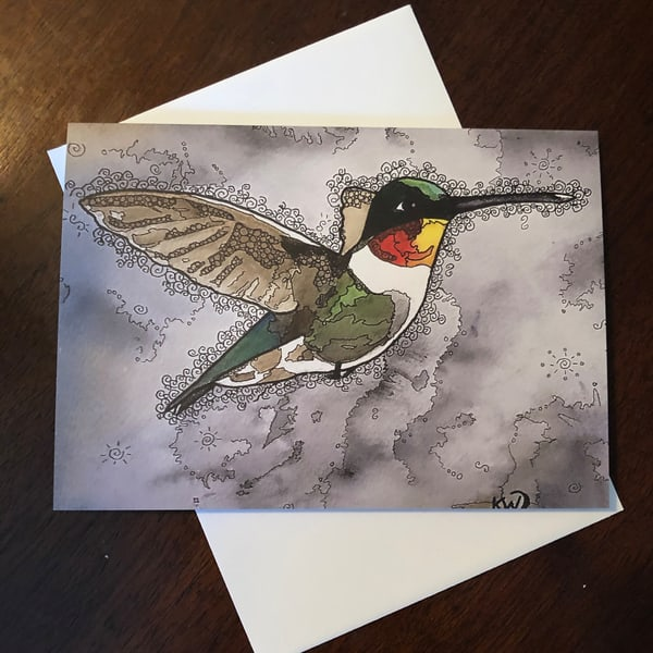 Hummingbird 1 Card | Water+Ink Studios