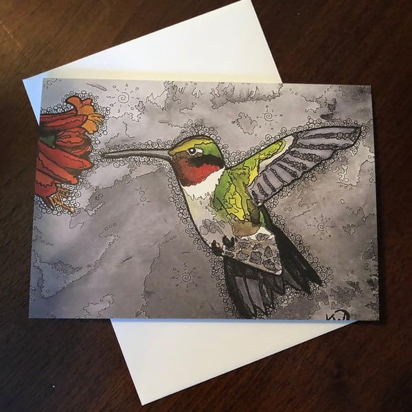Hummingbird 3 Card