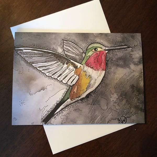 Hummingbird 4 Card | Water+Ink Studios